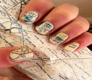 newspaper-nail-design